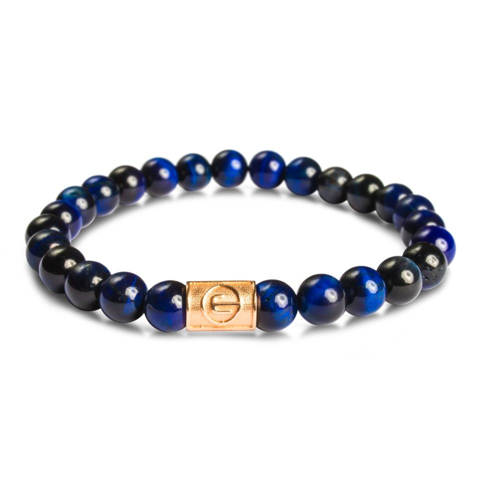 ESEROCCA Classic Blue Tiger Eye Rose Gold.